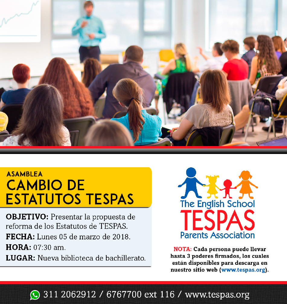 TESPAS - Convocatoria reforma de estatutos 2